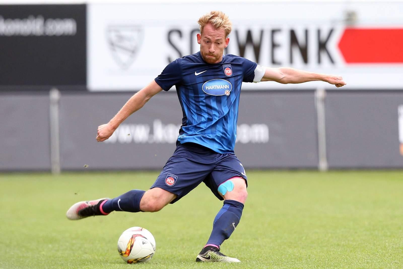 Marc Schnatterer, Freistoß-Experte des 1. FC Heidenheim.