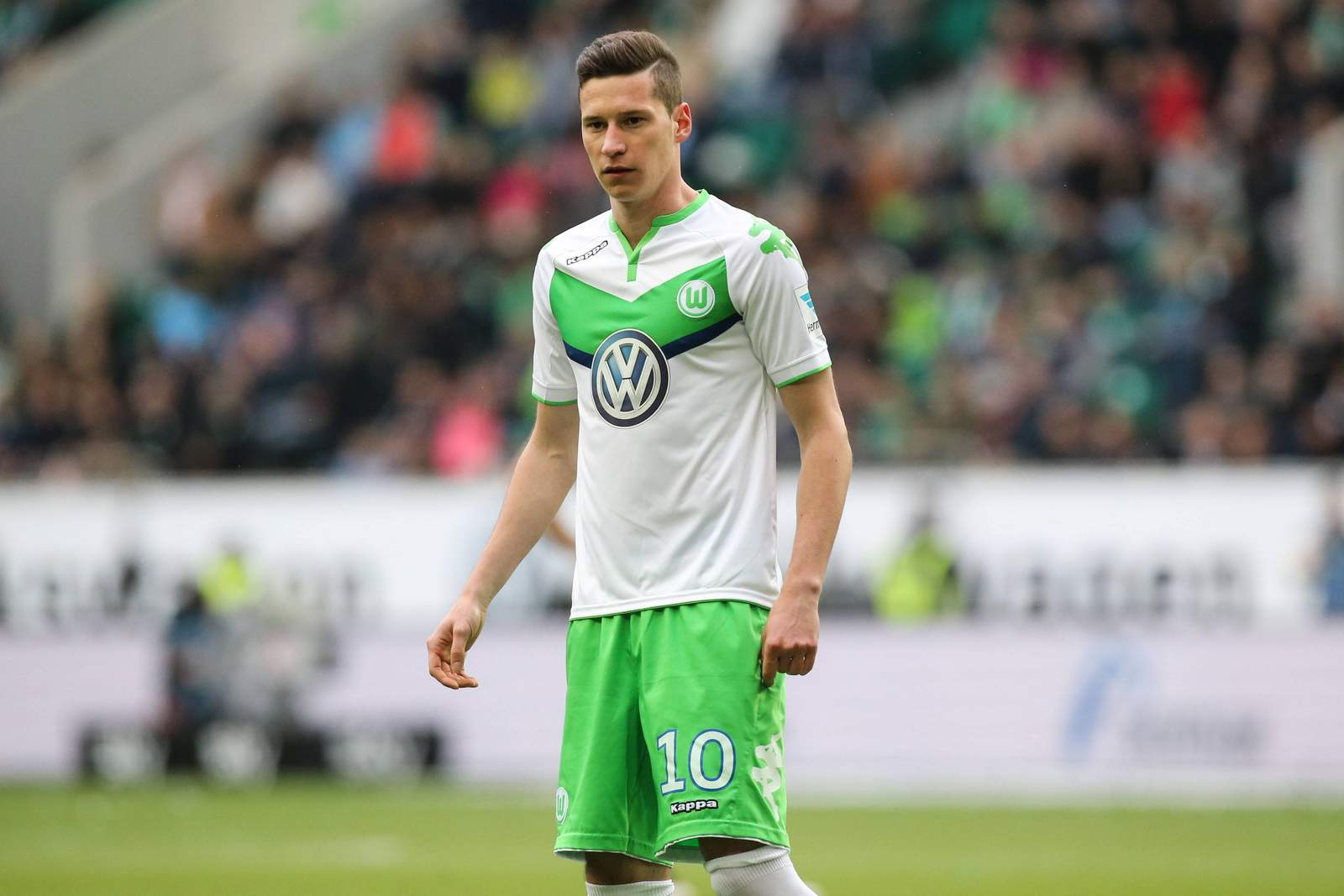 Julian Draxler im VfL-Trikot. Jetzt auf Ingolstadt gegen Wolfsburg wetten!