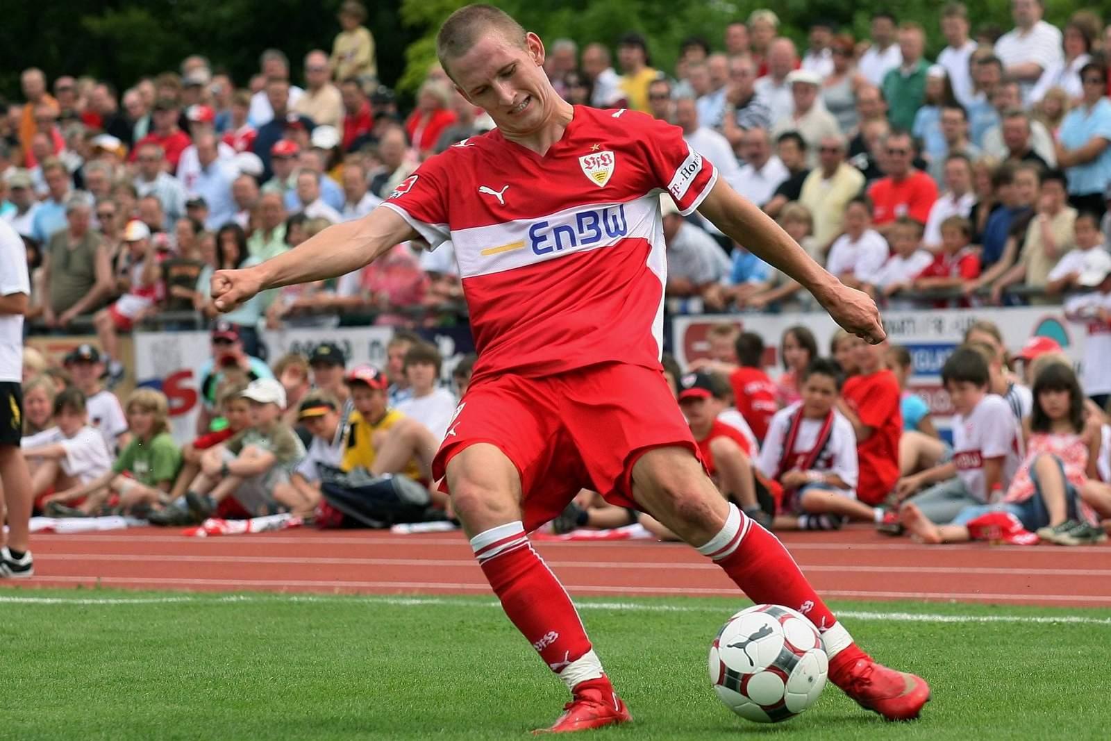 Manuel Fischer im Trikot des VfB Stuttgart.