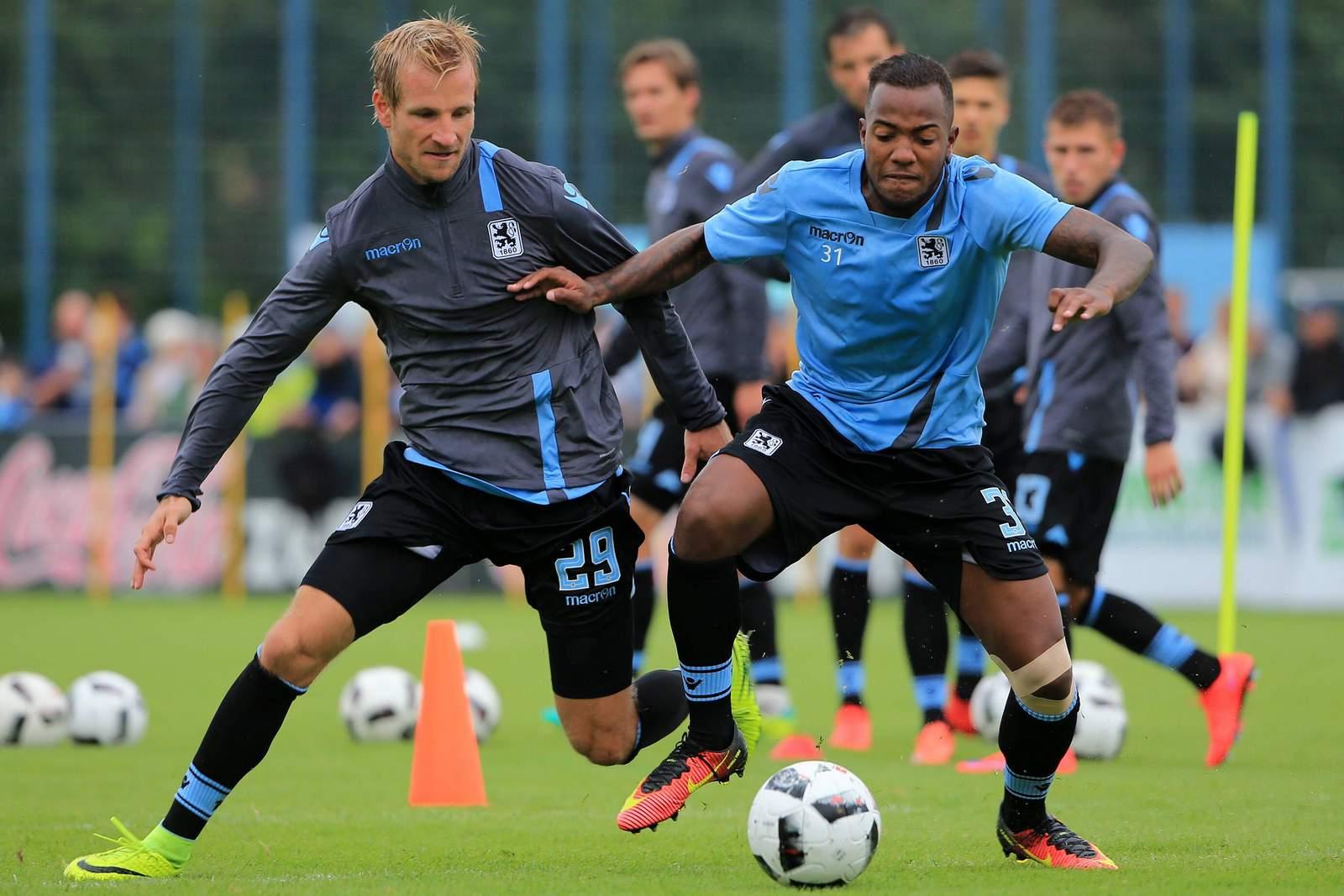 Aigner und Andrade beim Training von 1860 München