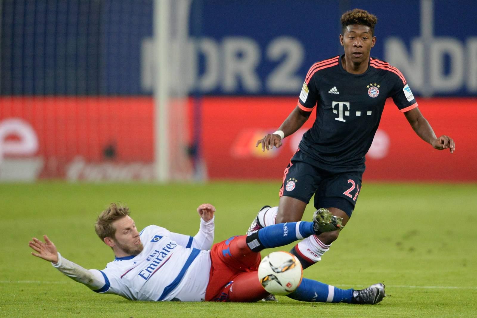 Aaron Hunt gegen David Alaba. Jetzt auf die Partie FC Bayern gegen HSV wetten.