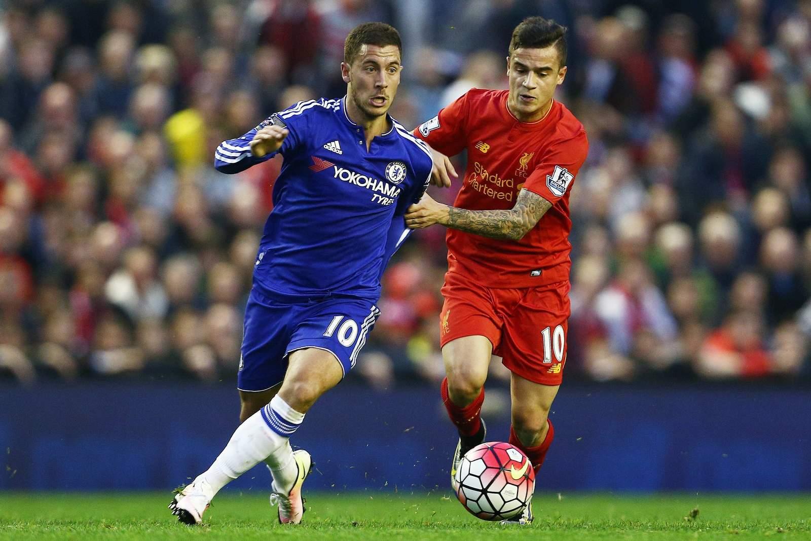 Laufduell zwischen Hazard und Coutinho. Jetzt auf Liverpool gegen Chelsea wetten!