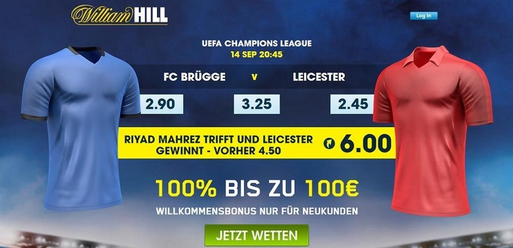 Screenshot Quoten Brügge vs Leicester