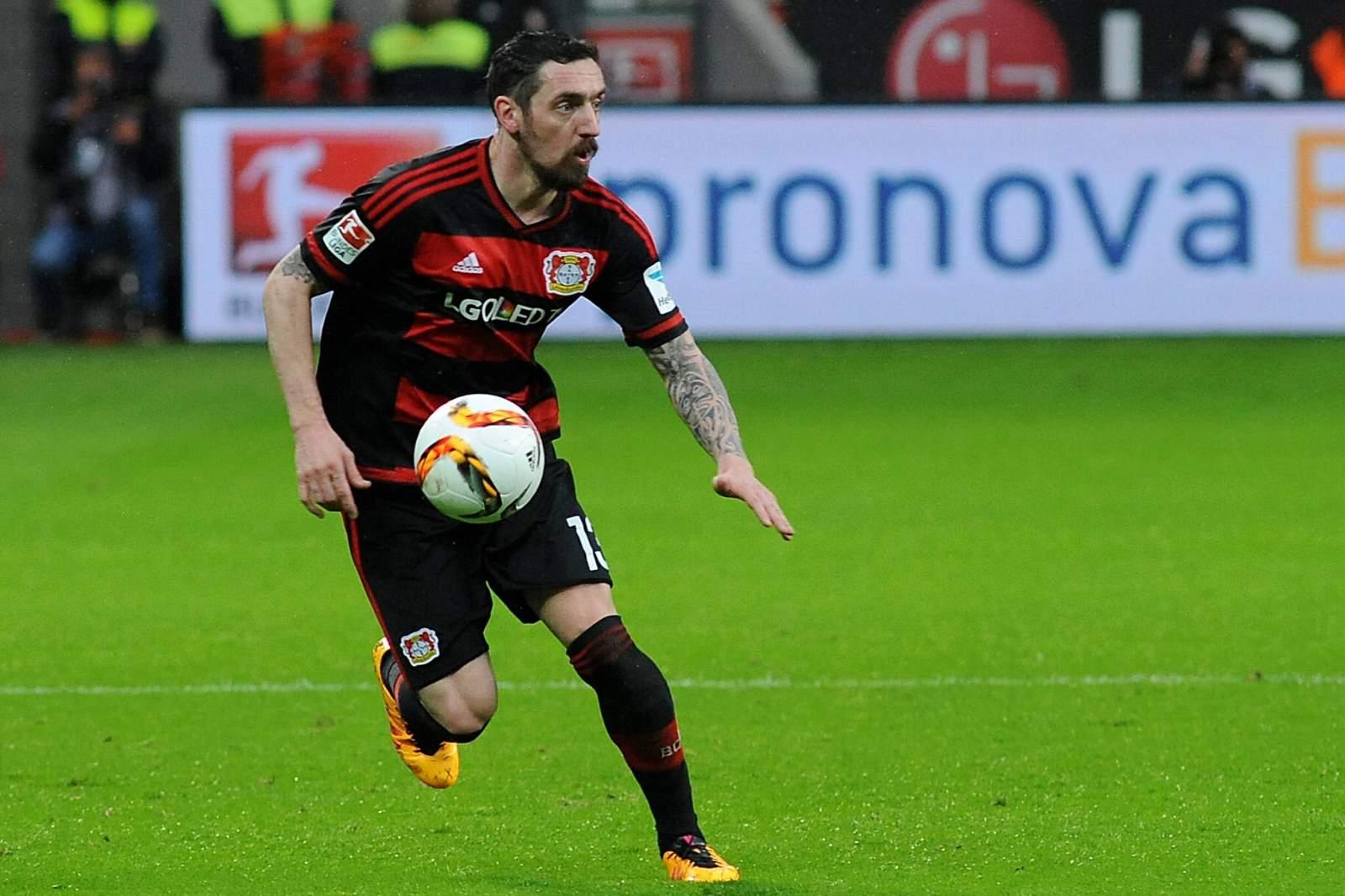 Roberto Hilbert im Trikot von Bayer Leverkusen. Jetzt spielt er wieder für Greuther Fürth.