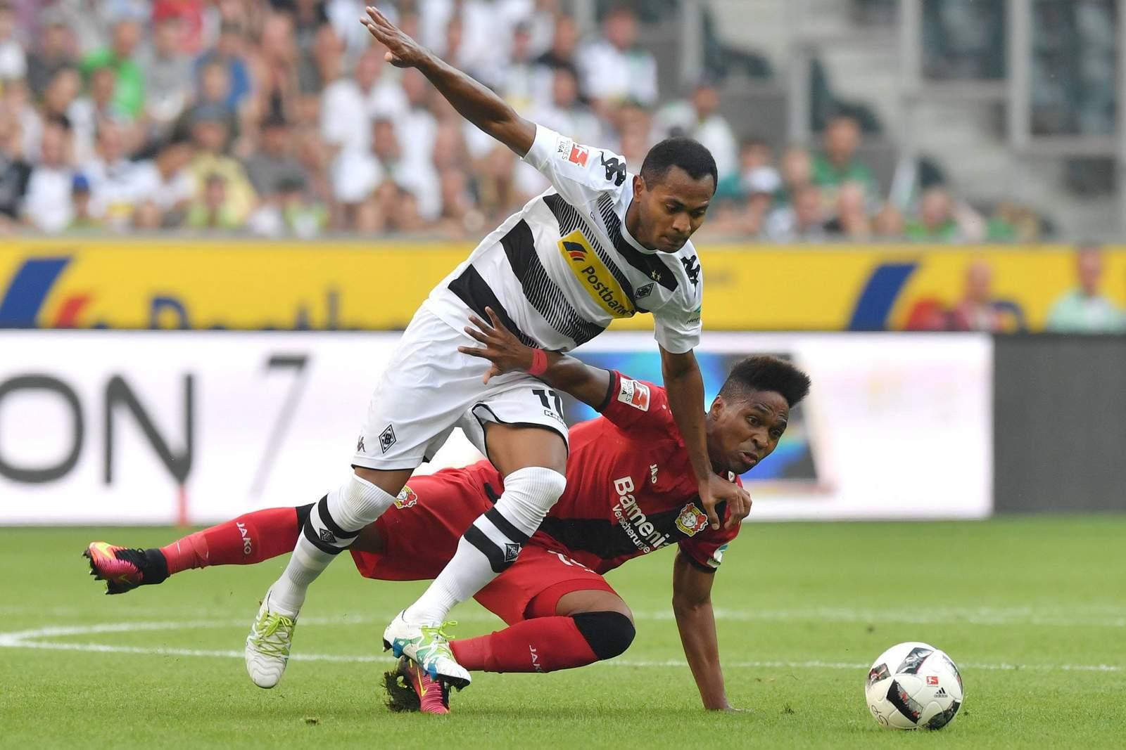 Raffael gegen Wendell. Jetzt auf die Partie Gladbach gegen Leverkusen wetten