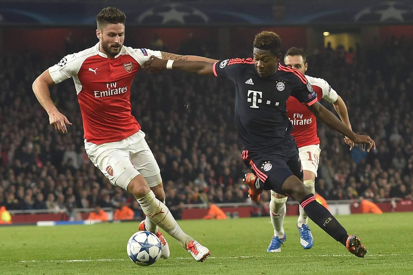 Setzt sich Alaba gegen Giroud durch? Jetzt auf FC Bayern gegen Arsenal London wetten