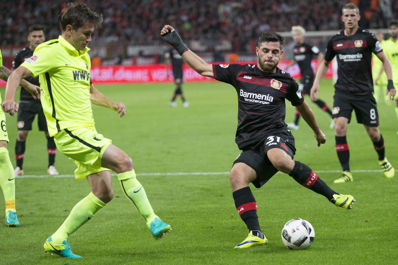 Volland zieht ab, Verhaegh steht im Weg. Jetzt auf Augsburg gegen Leverkusen wetten!