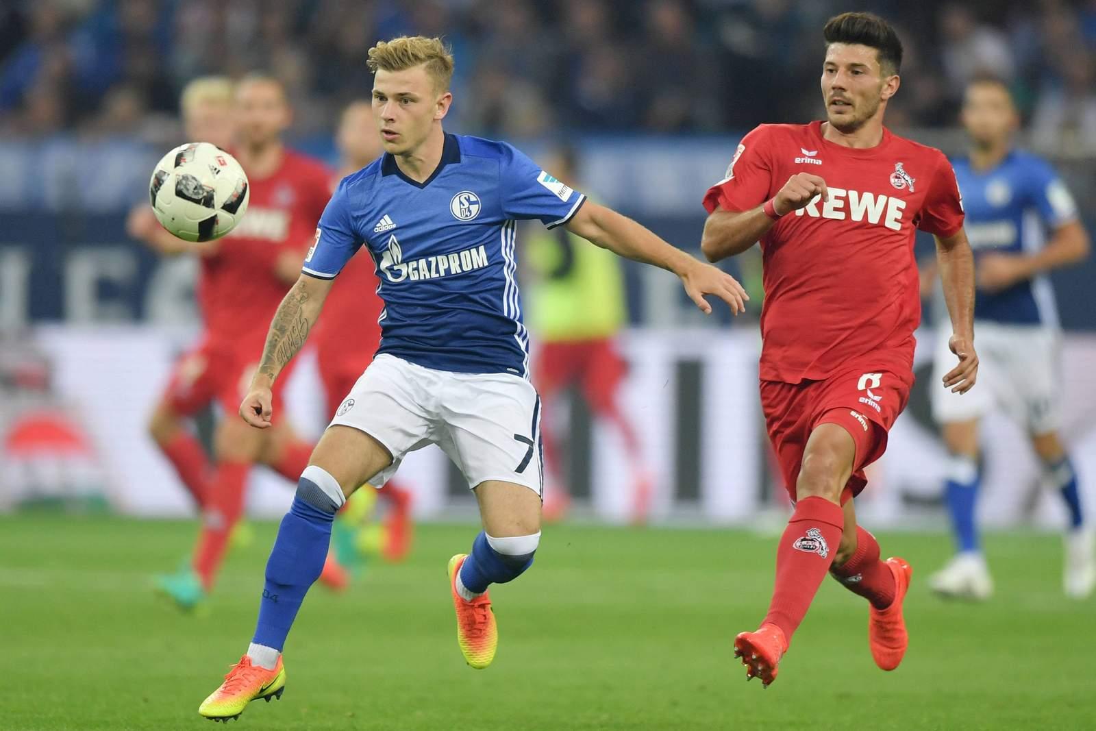 Max Meyer gegen Milos Jojic. Jetzt auf die Partie Köln gegen Schalke wetten.