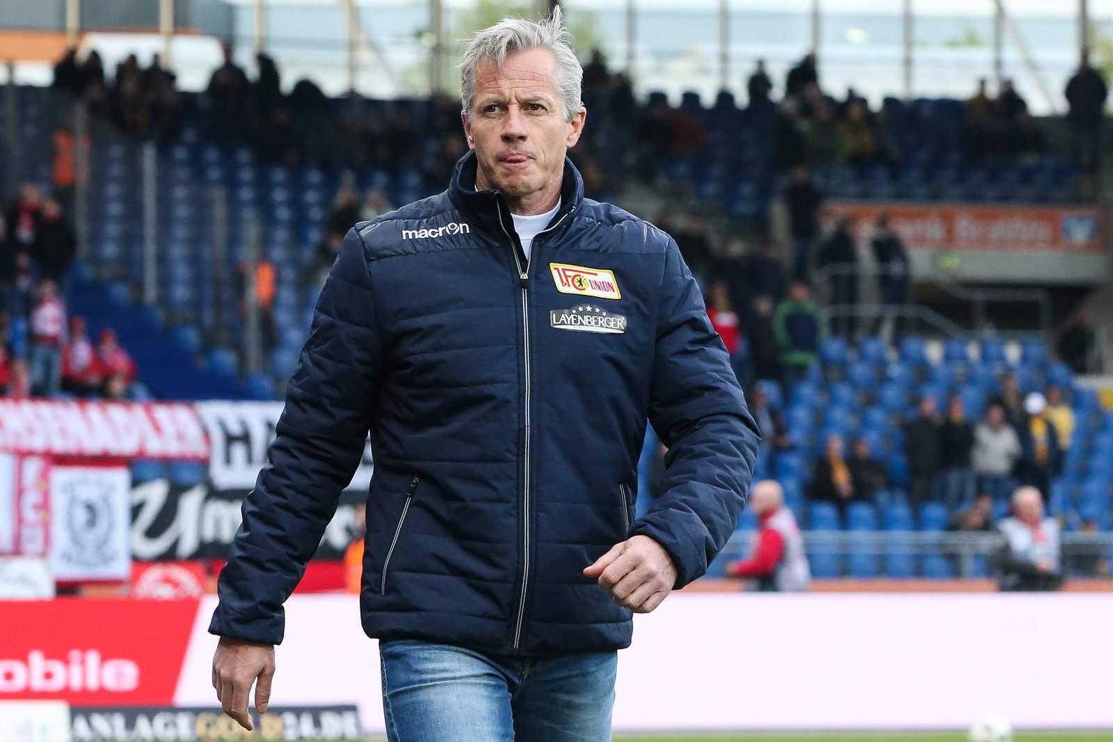 Jens Keller, als Trainer von Union Berlin. Jetzt muss er seinen Hut nehmen.