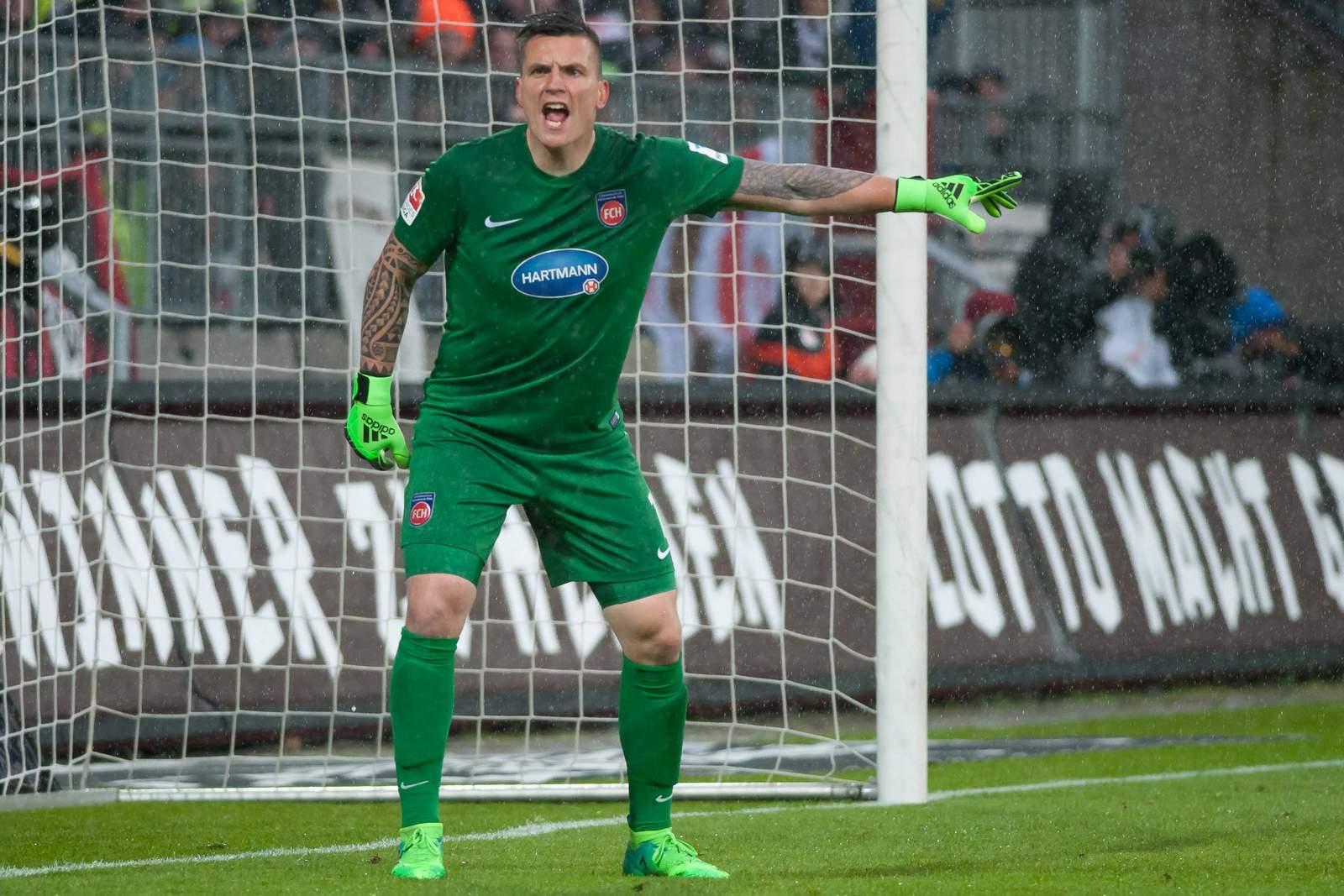 Kevin Müller vom 1. FC Heidenheim