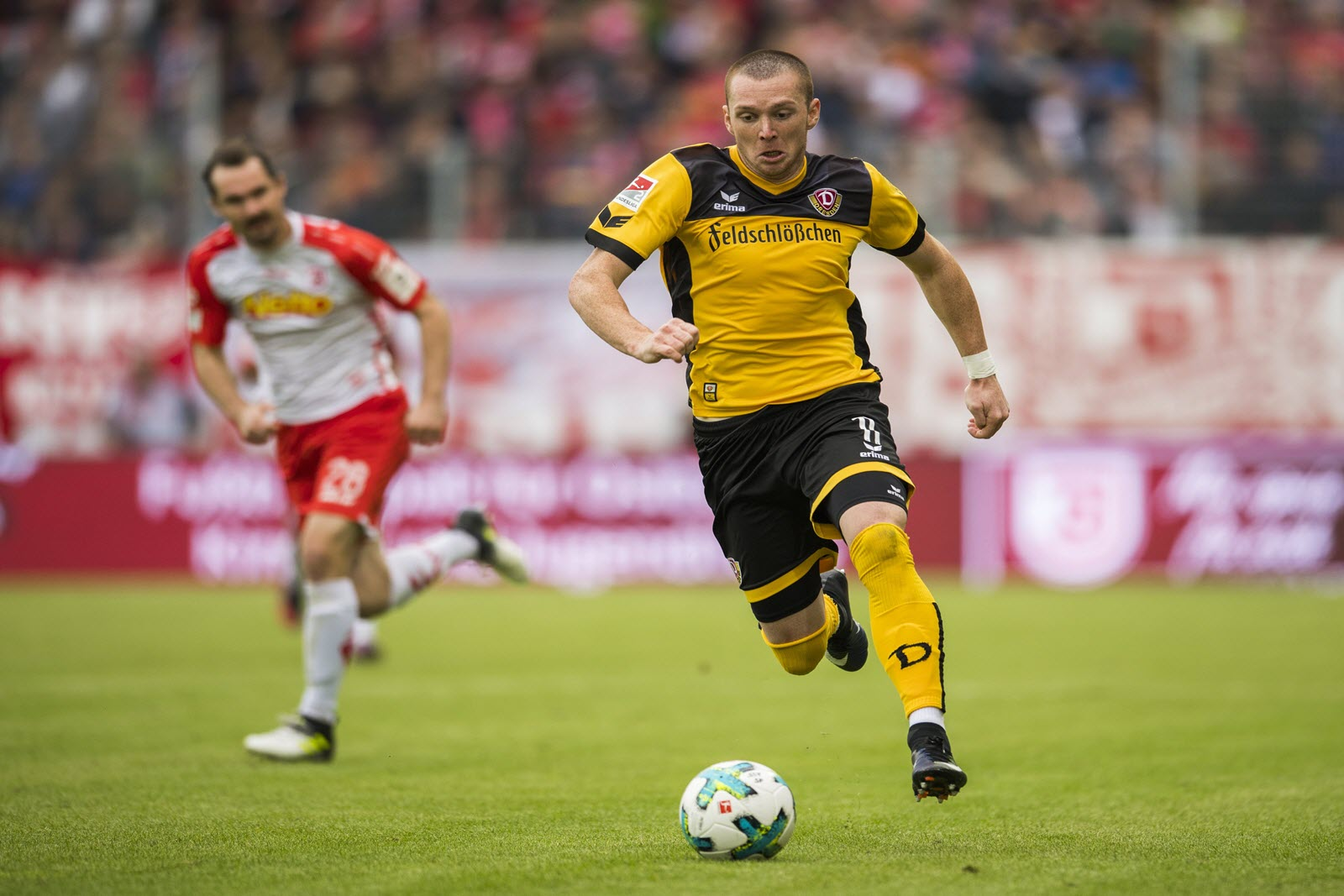 Haris Duljevic im Trikot von Dynamo Dresden