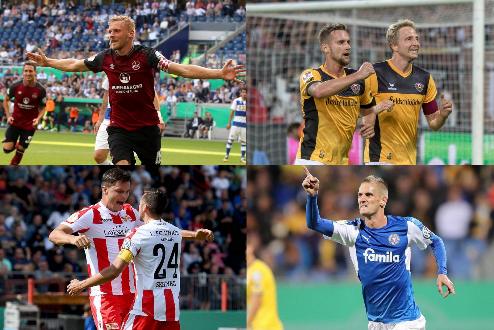 Collage Liga-Zwei.de