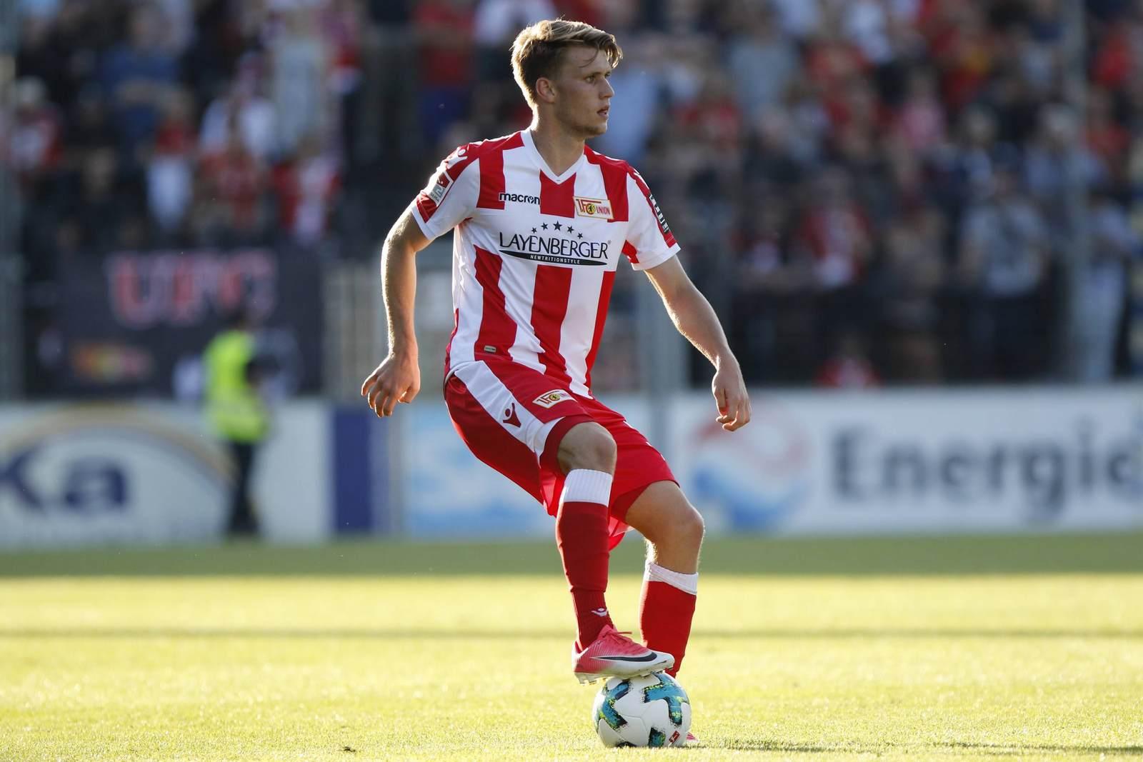 Lukas Lämmel im Trikot von Union Berlin. Jetzt macht Lämmel ein Probetraining beim FC Saarbrücken