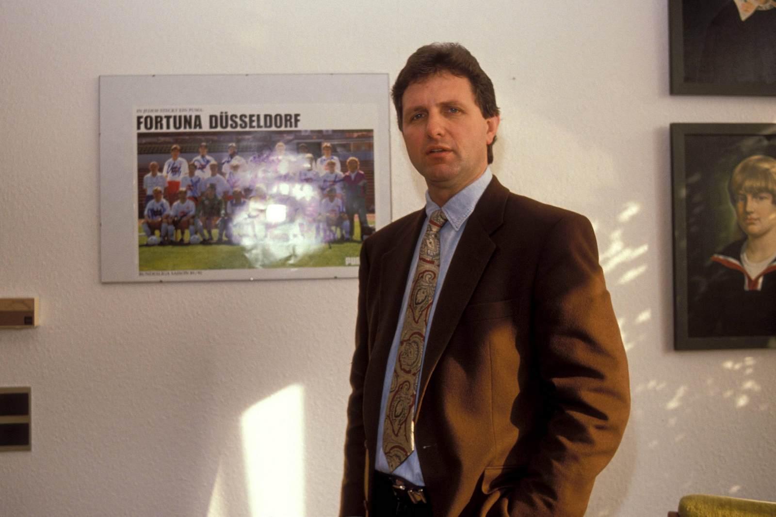 Peter Förster als Präsident von Fortuna Düsseldorf im Jahr 1989