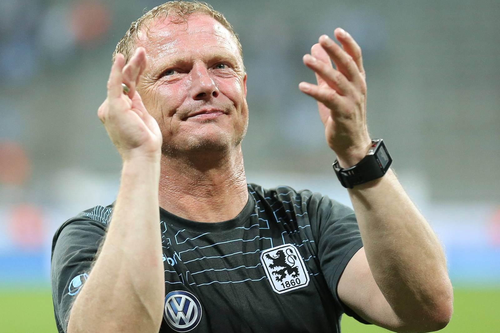 Torsten Fröhling nach dem Klassenerhalt von 1860 München in der Saison 2014/15. Momentan ist der 51-Jährige vereinslos