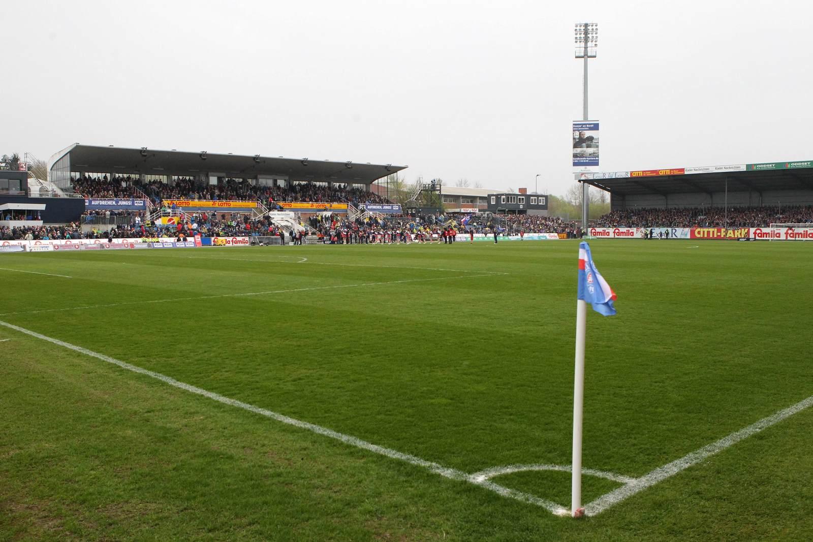 Das Holstein-Stadion, Heimspielstätte von Holstein Kiel