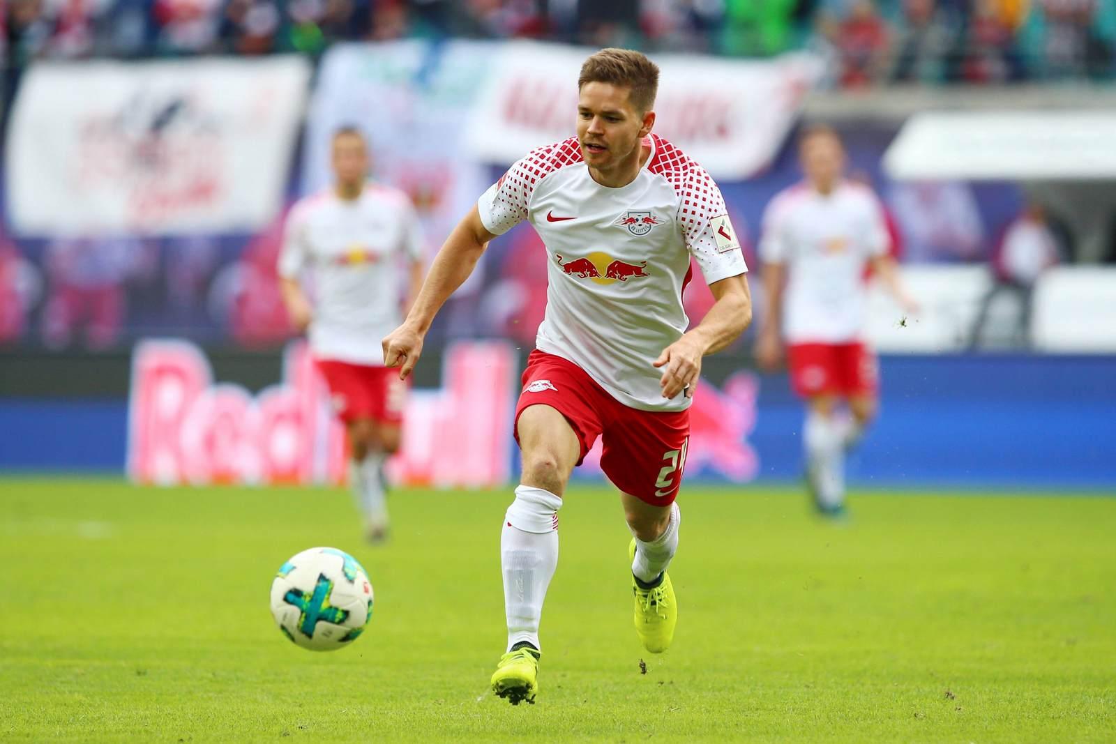 Dominik Kaiser bei einem Spiel von RB Leipzig in der Bundesliga