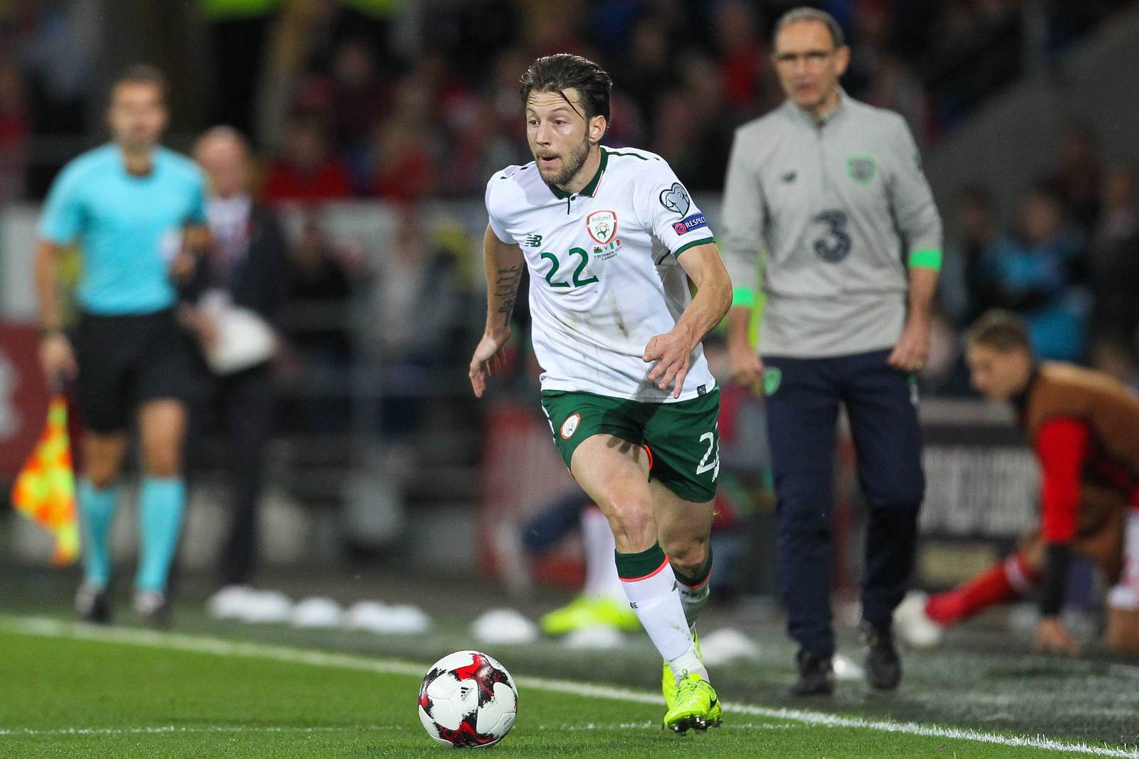 Harry Arter am Ball für die irische Nationalmannschaft