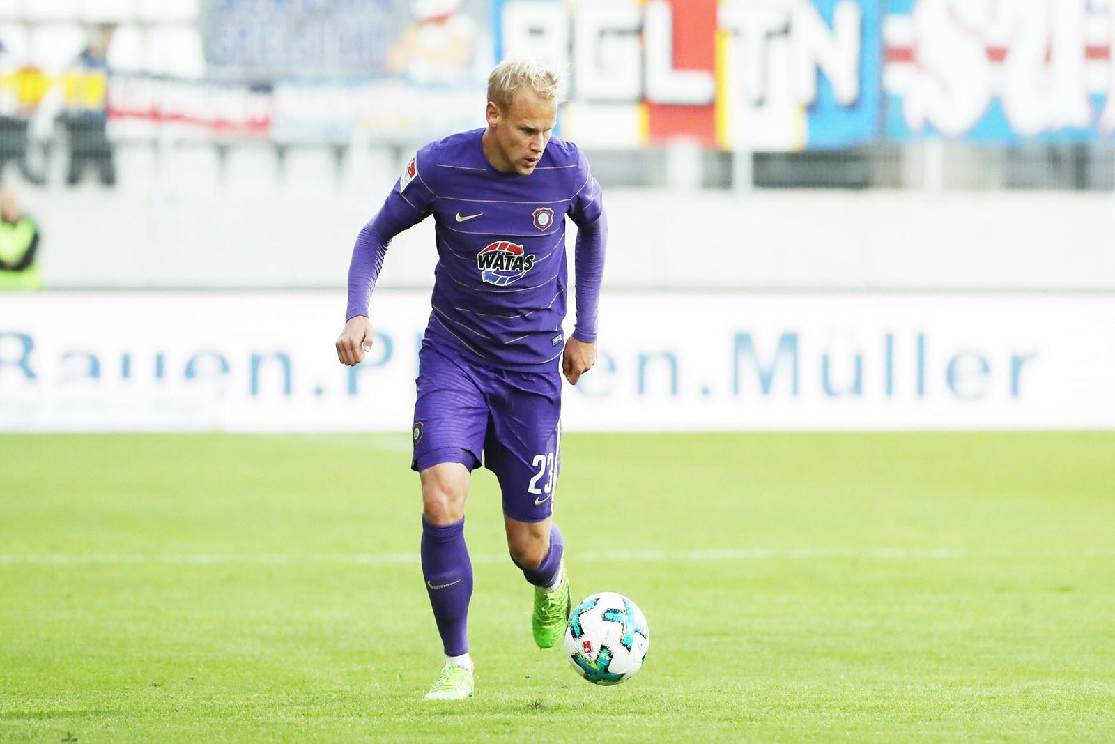 Sören Bertram vom FC Erzgebirge Aue.