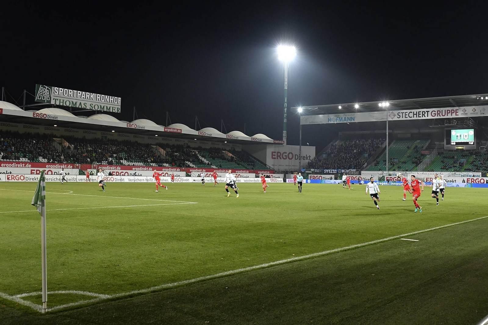 Der Sportpark Ronhof, das Stadion in Fürth