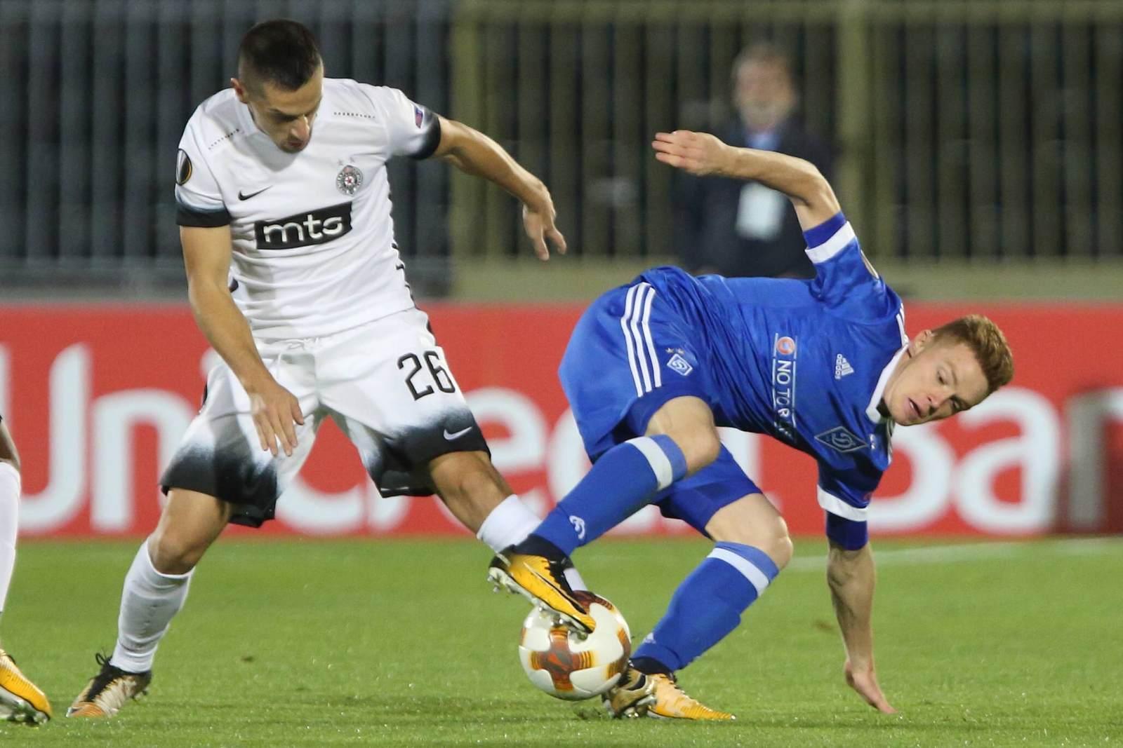 Viktor Tsygankov gegen Nemanja Miletic. Jetzt auf die Partie Dynamo Kiew gegen Partizan wetten.