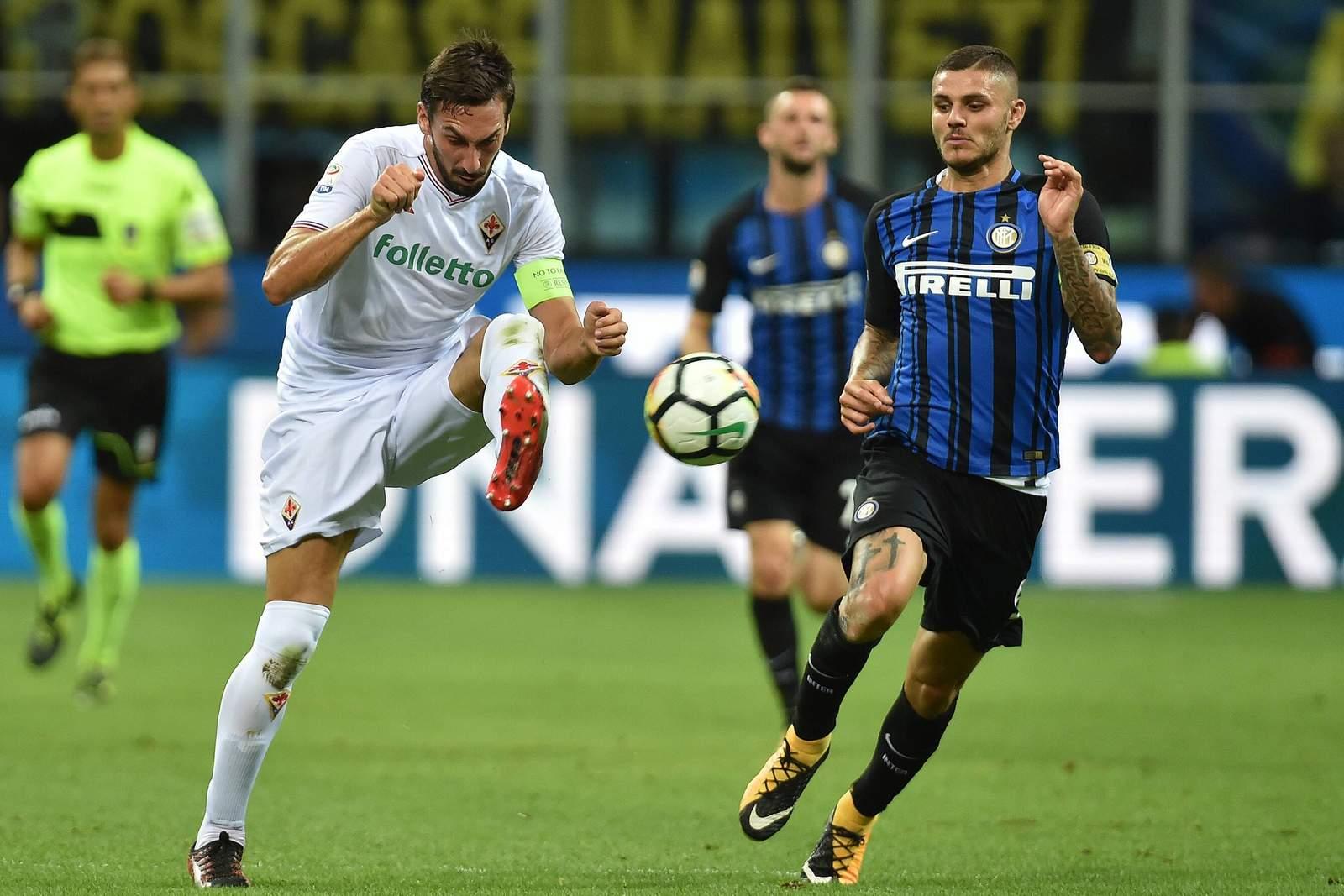Duell zweier Europapokalanwärter in der Serie A: Fiorentina (mit Davide Astori) und Inter Mailand (mit Torjäger Mauro Icardi).