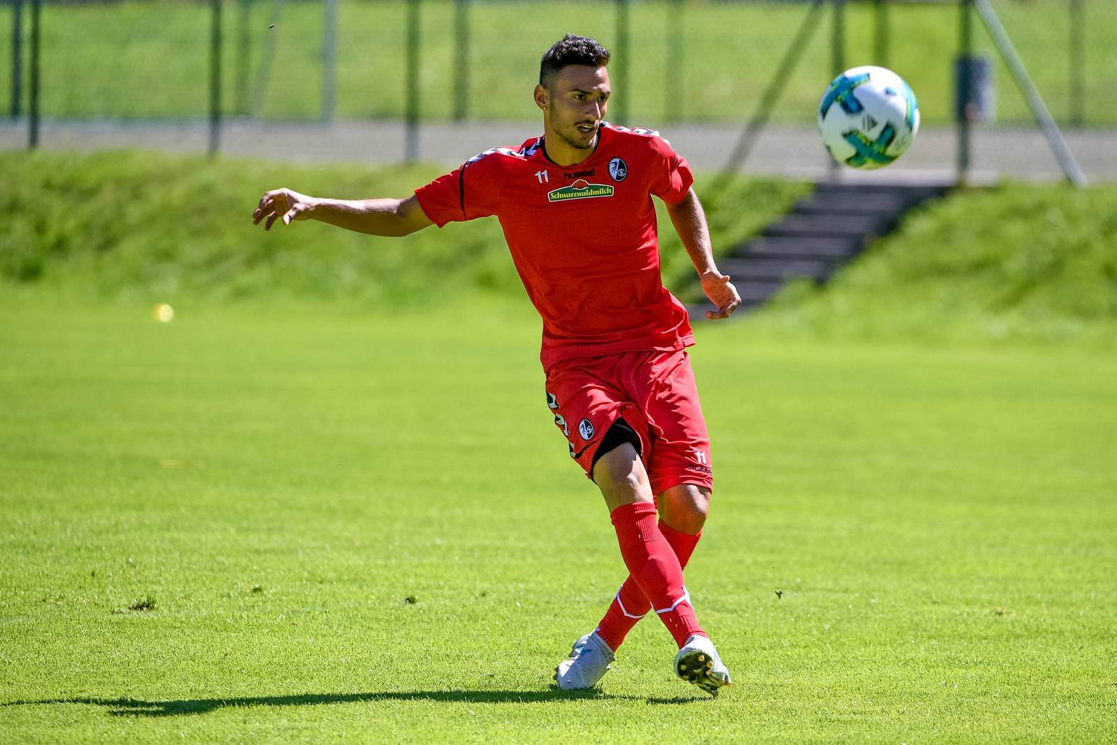 Onur Bulut im Training des SC Freiburg