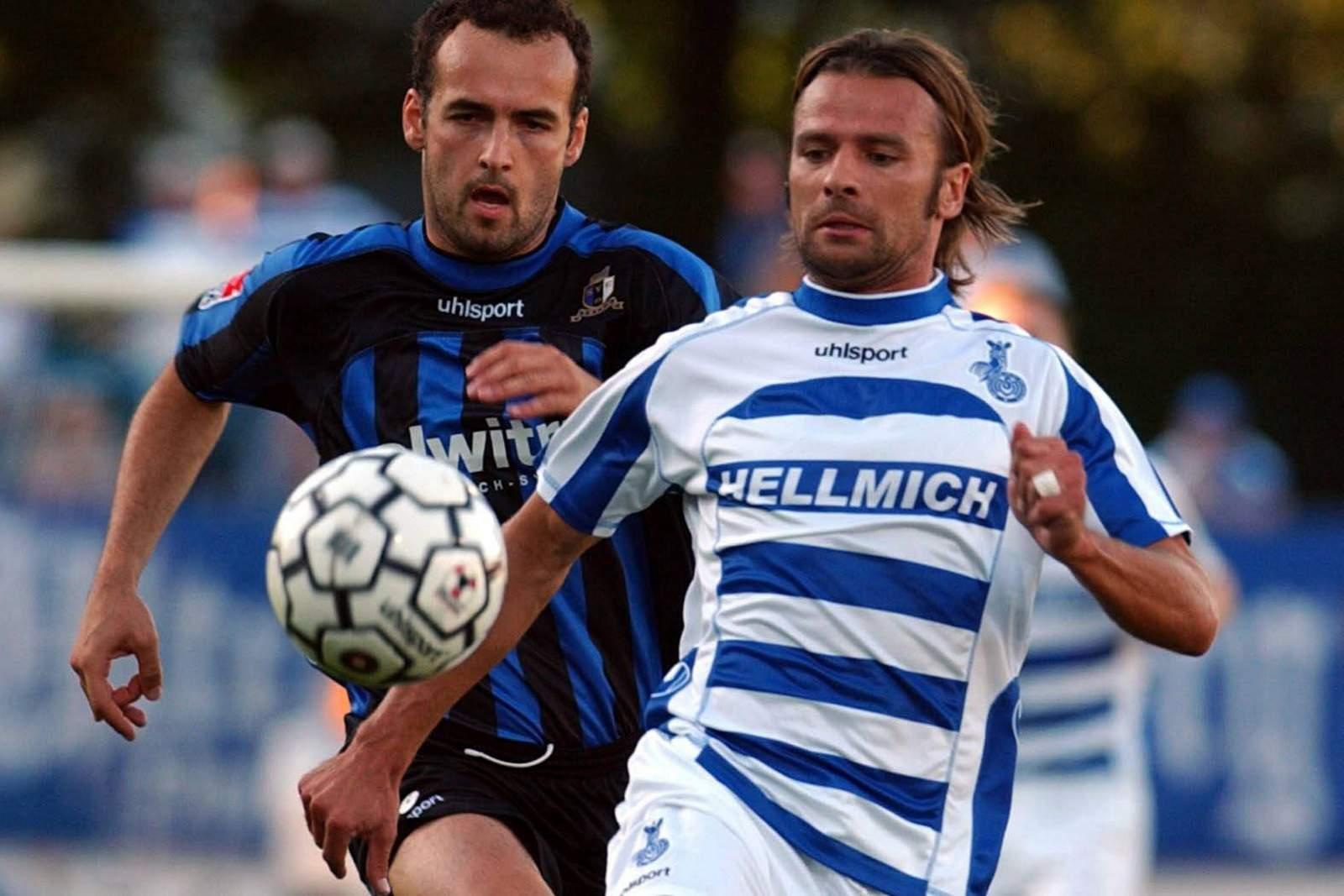 Peter Peschel am Ball für den MSV Duisburg.