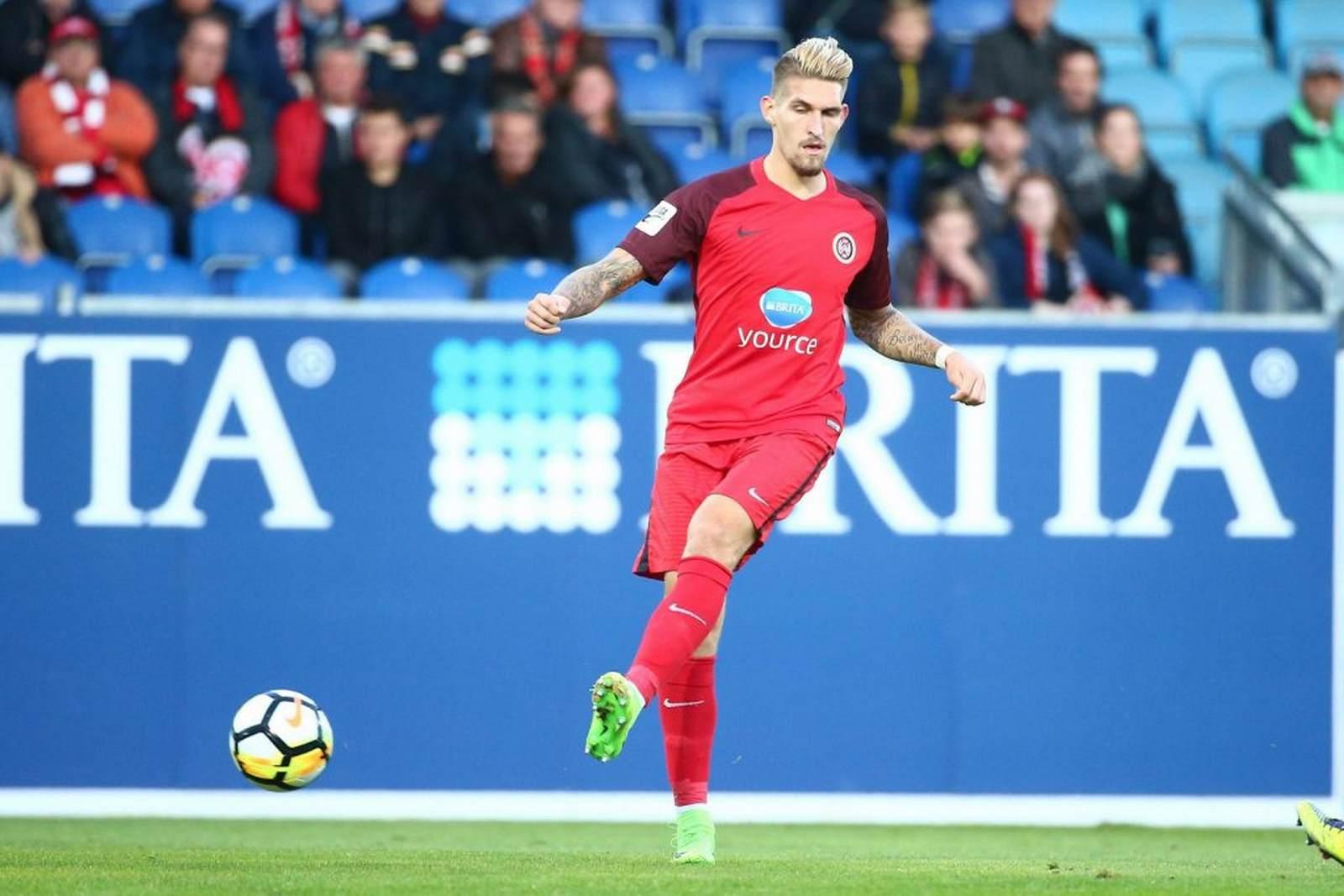 Robert Andrich am Ball für den SV Wehen Wiesbaden. Zur nächsten Saison wechselt er nach Heidenheim