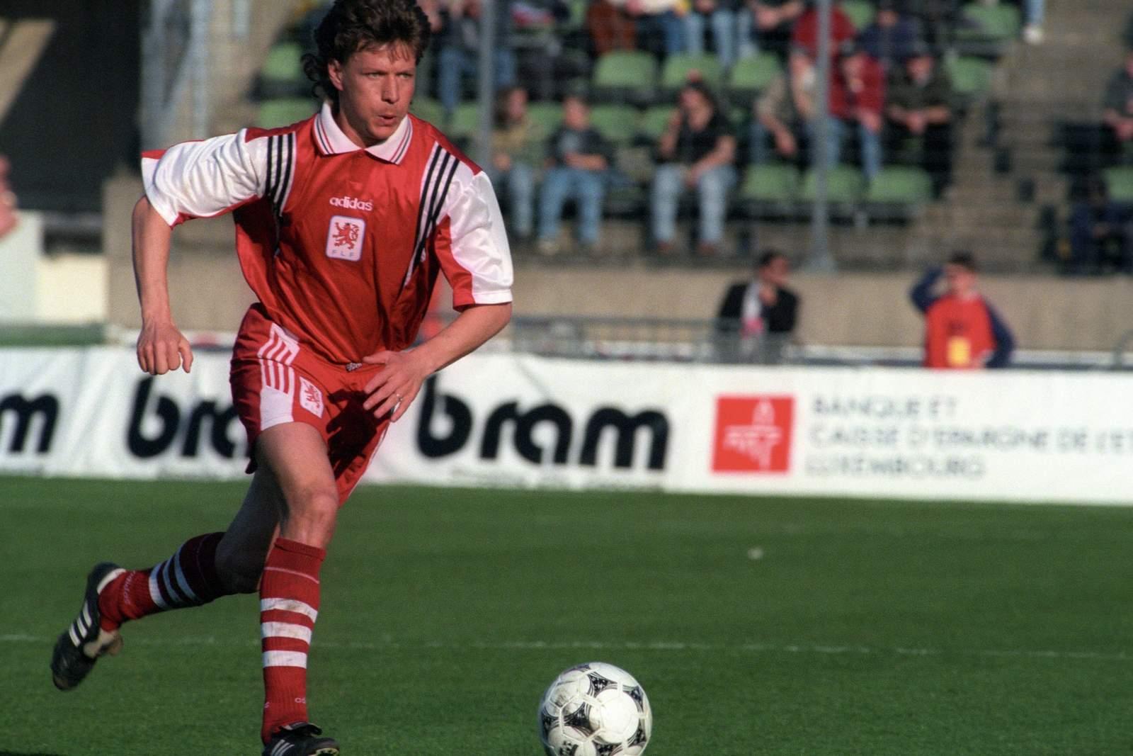 Jeff Saibene im Spiel Luxemburg gegen Isarel