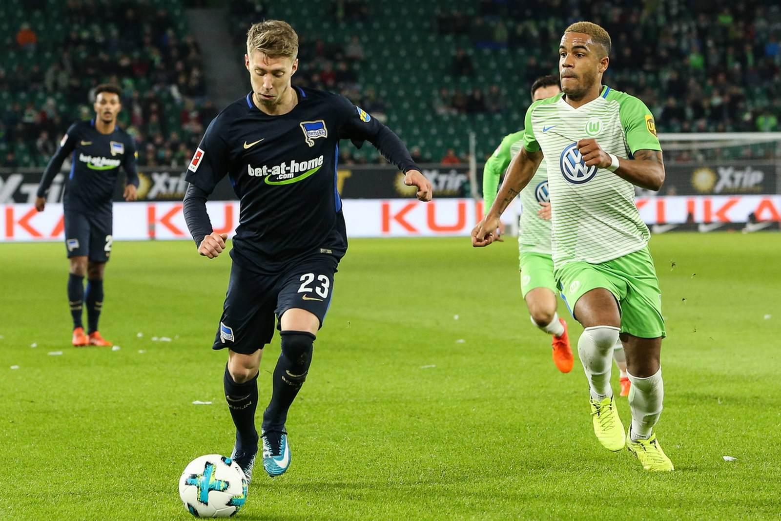Mitchell Weiser gegen Daniel Didavi. Jetzt auf Hertha gegen Wolfsburg wetten