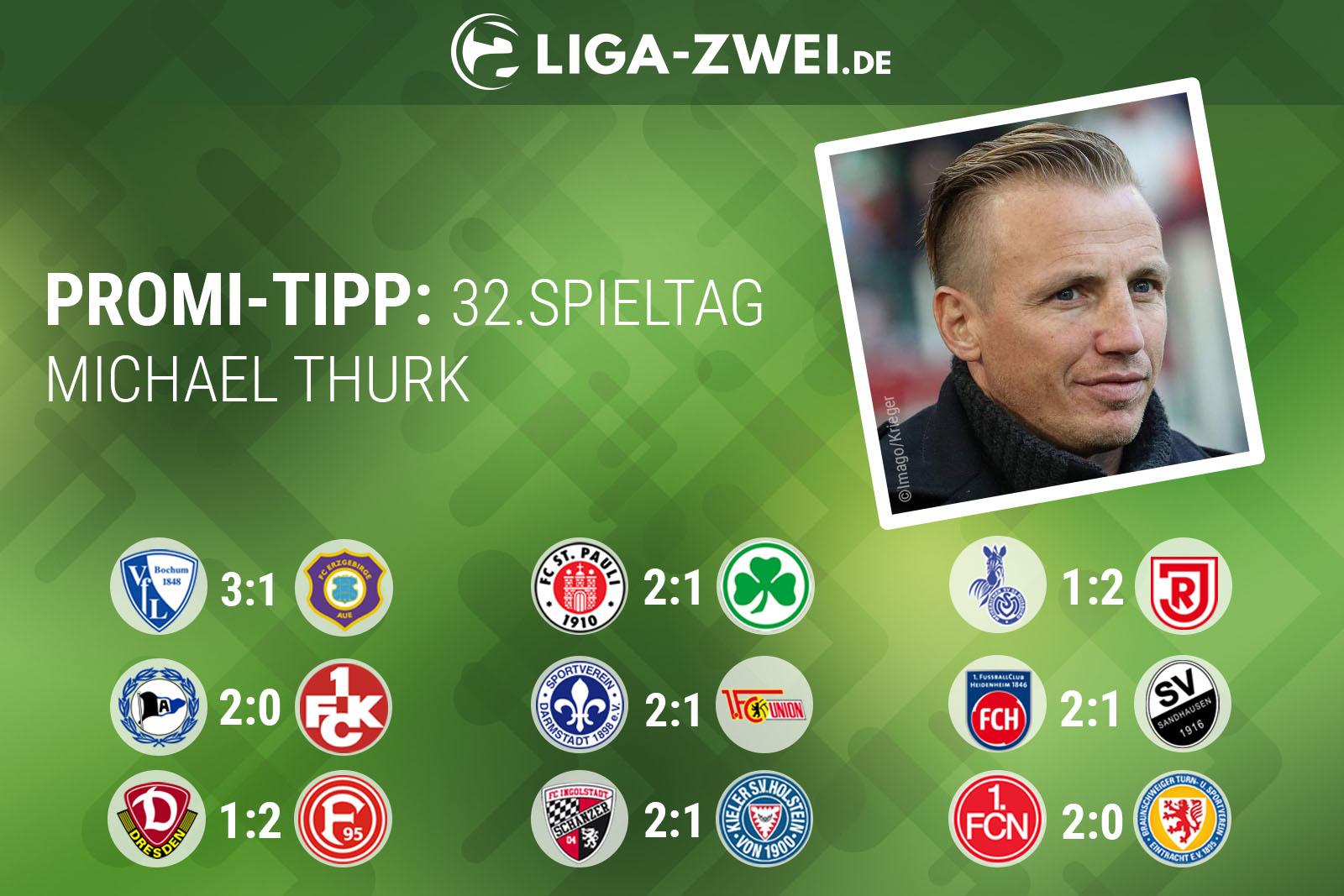 NMichael Thurk tippt den 32. Spieltag der 2. Bundesliga