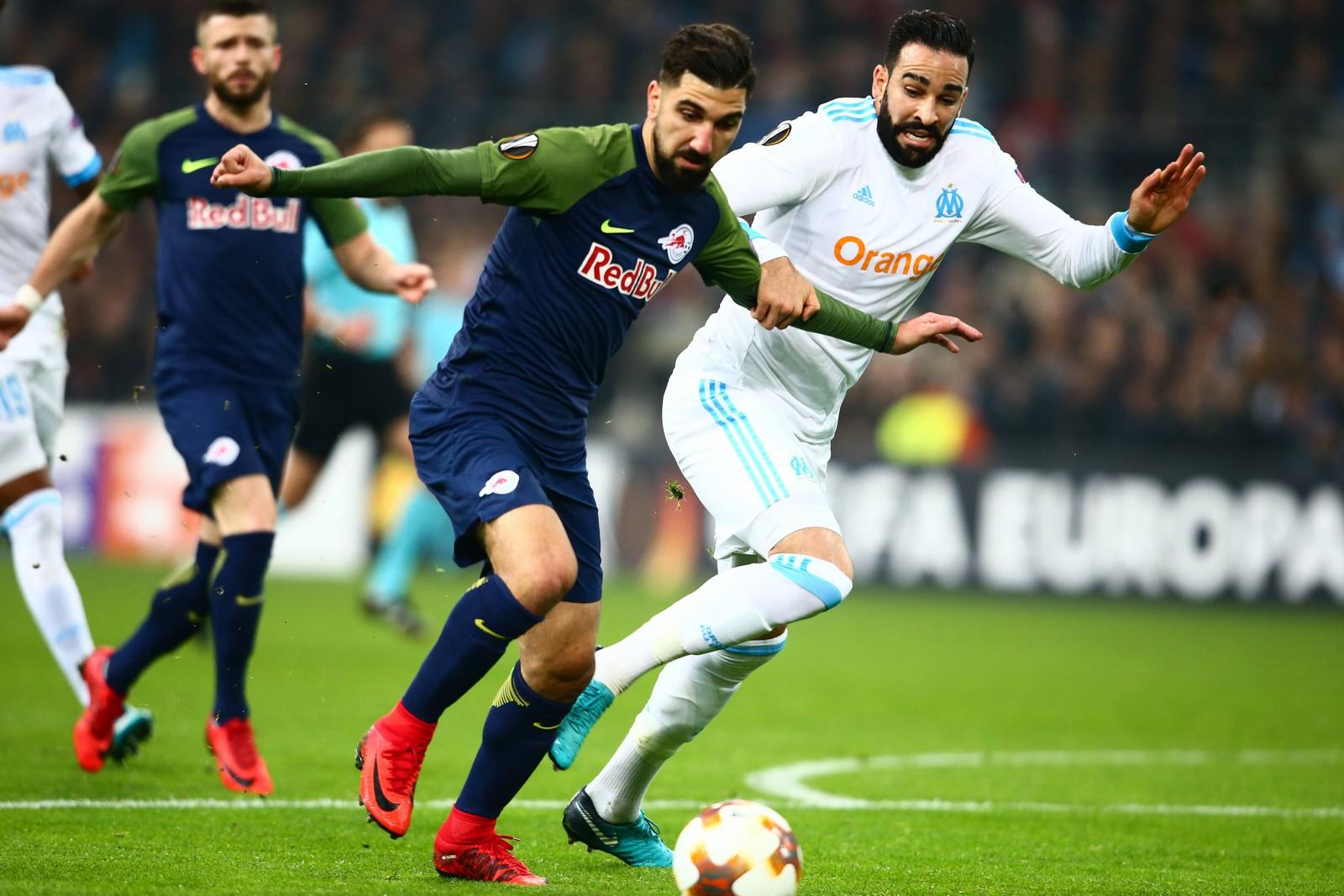 Setzt sich Munas Dabbur gegen Adil Rami durch? Jetzt auf Marseille gegen Salzburg wetten!