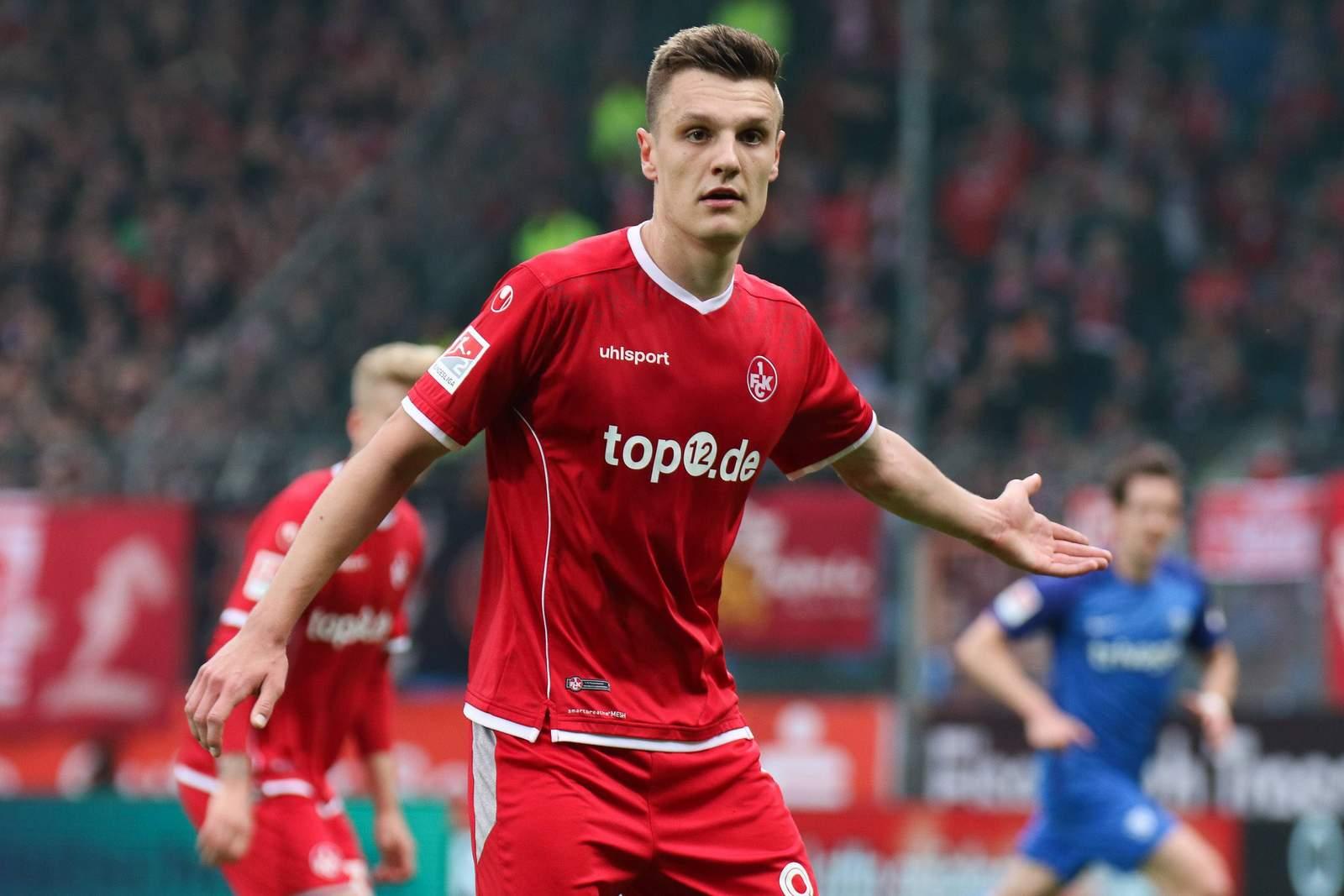 Gino Fechner vom 1.FC Kaiserslautern