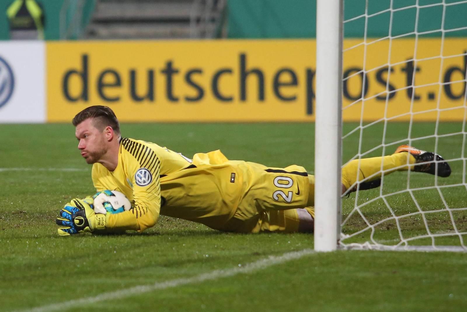 Max Grün im Kasten des VfL Wolfsburg