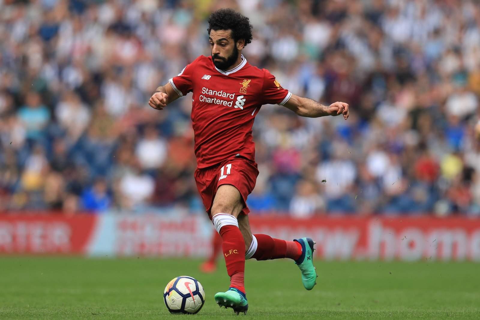 Mo Salah am Ball für den FC Liverpool
