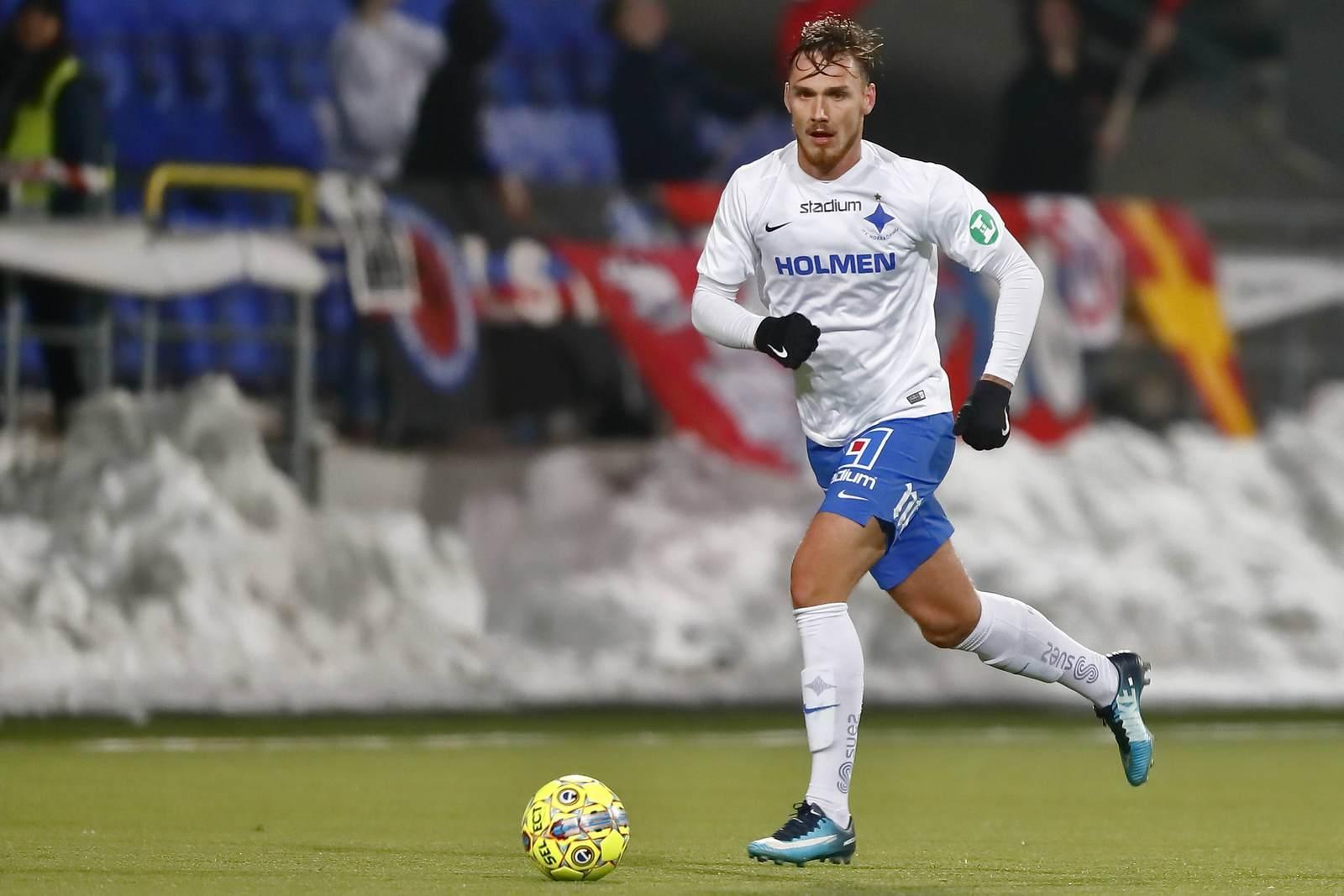 Linus Wahlqvist am Ball für Norrköping
