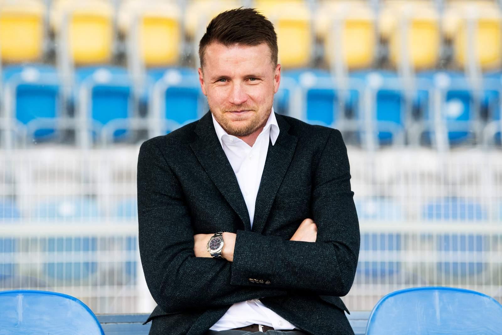 Maik Franz vom 1.FC Magdeburg beim Spiel gegen Carl Zeiss Jena