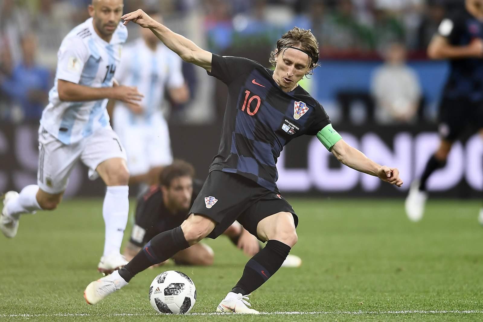 Luka Modric zieht ab. Jetzt auf Kroatien gegen Dänemark wetten.