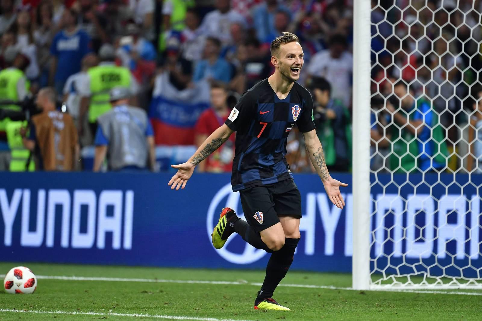 Ivan Rakitic jubelt für Kroatien. Jetzt auf die Partie Kroatien gegen England wetten