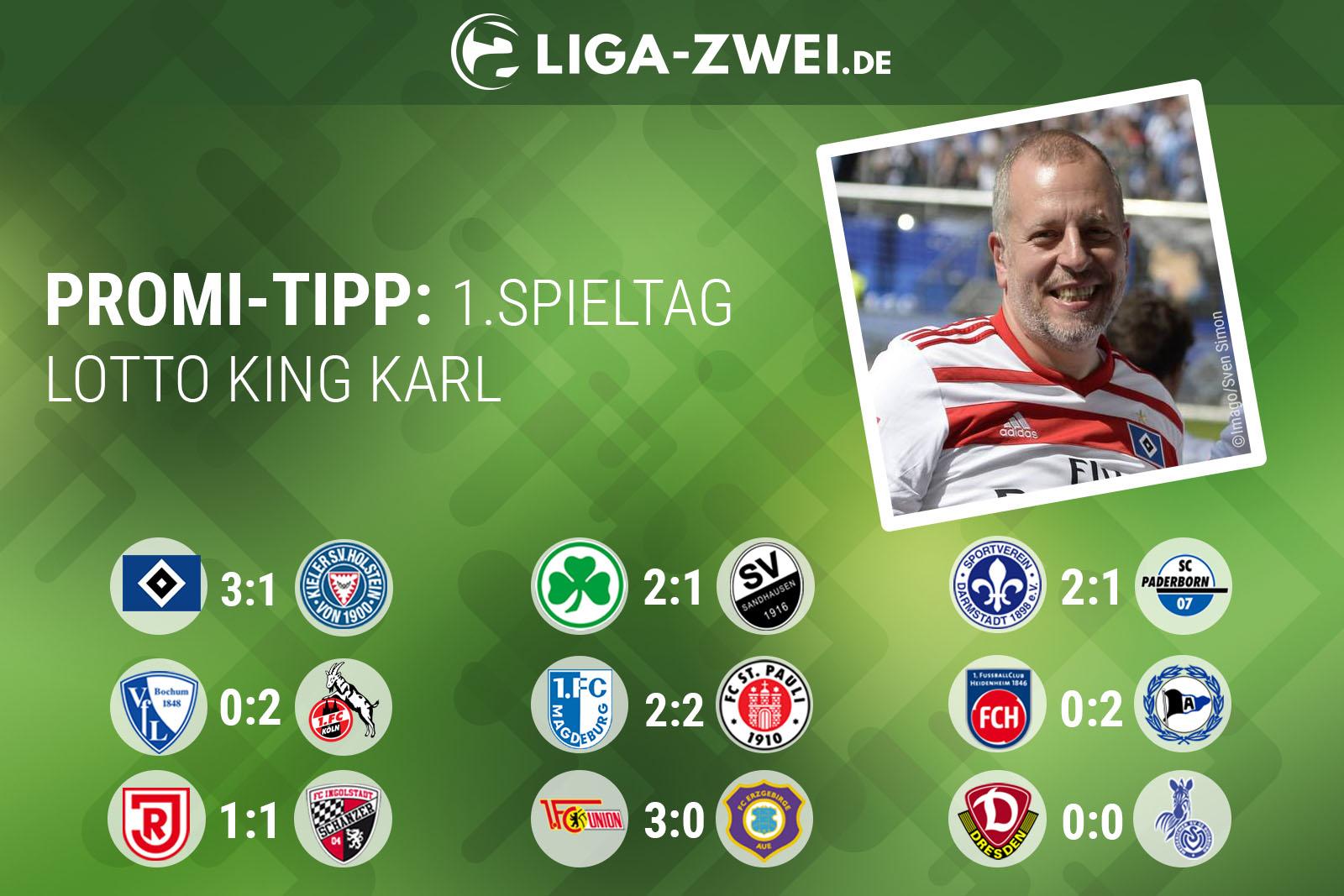 Lotto King Karl tippt 1. Spieltag der 2. Bundesliga