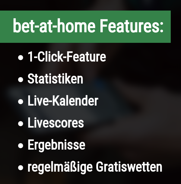 Features bei bet-at-home