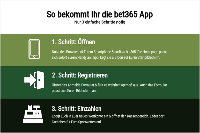 So bekommt Ihr die bet365 App
