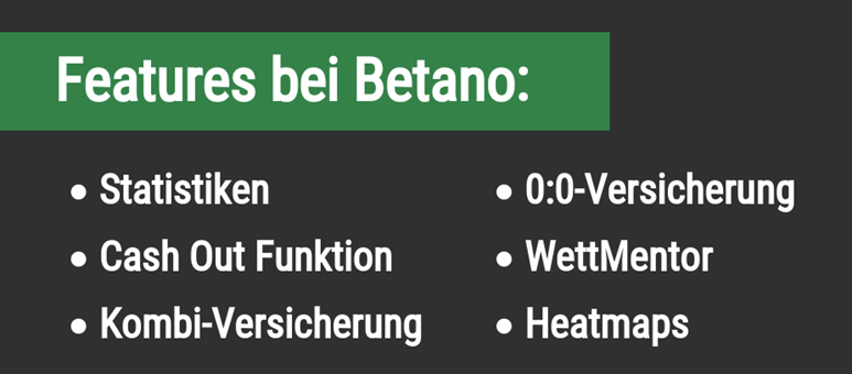 Features bei Betano