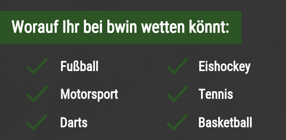 Sportarten bei bwin