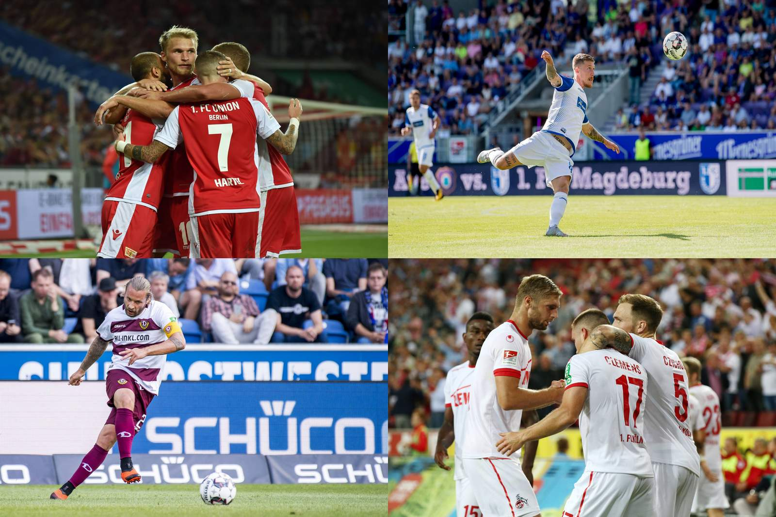 Collage zur 2. Bundesliga