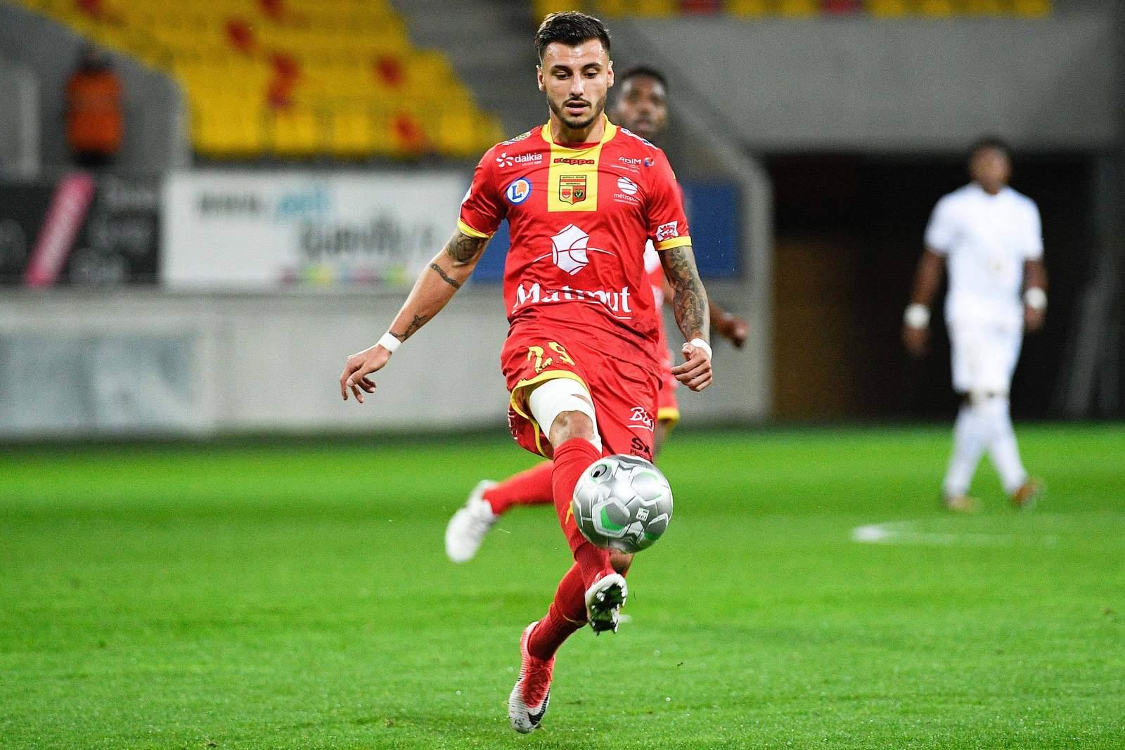 Jonathan Clauss von US Quevilly bei Spiel der Ligue 2