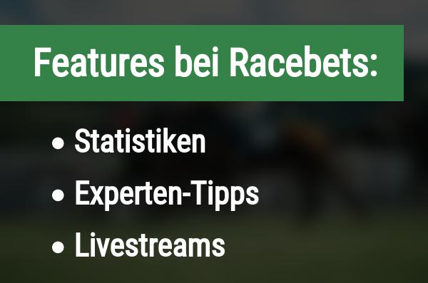 Features für Wetten bei Racebets