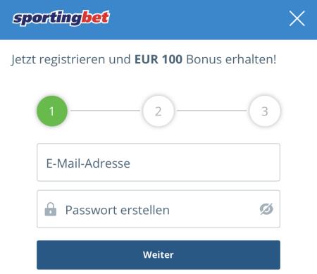 Sportingbet Registrierung