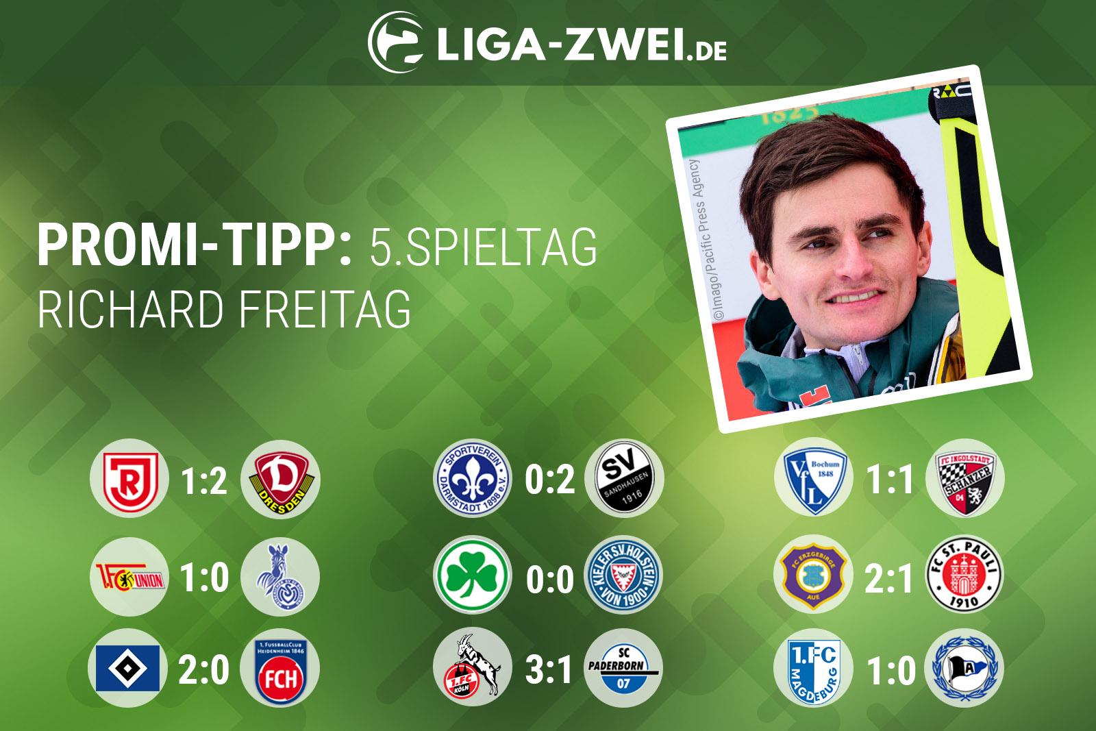 Richard Freitag beim Liga-Zwei.de Promi-Tipp